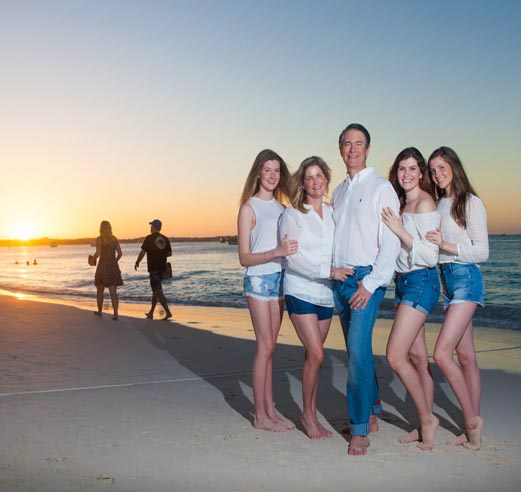 Sunset family photo-shoot - Providenciales photographers, Turks and Caicos