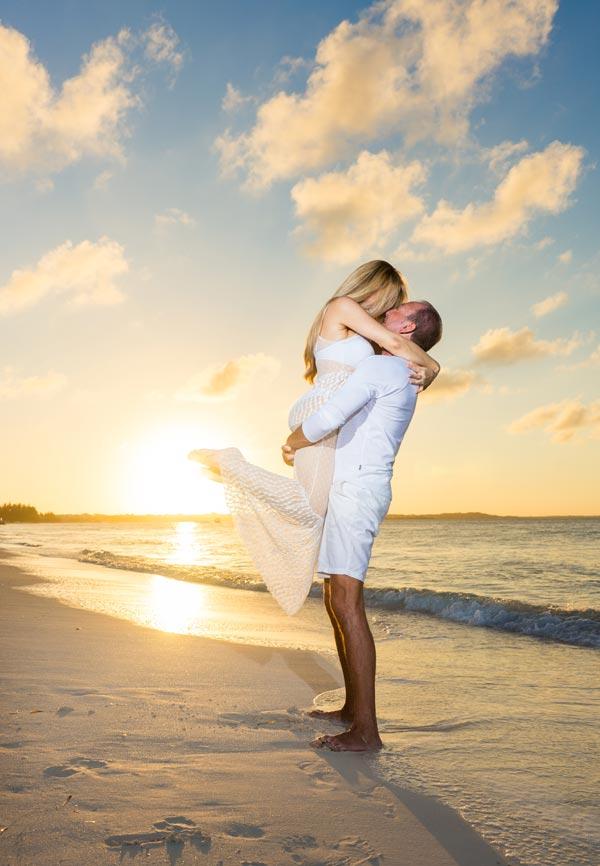 Honeymoon, Couple on Beach, Portrait Photographer Turks and Caicos