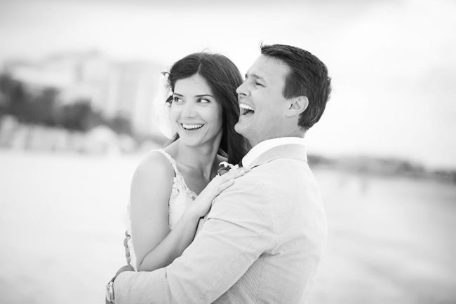 couple hugging - best wedding photographer Providenciales