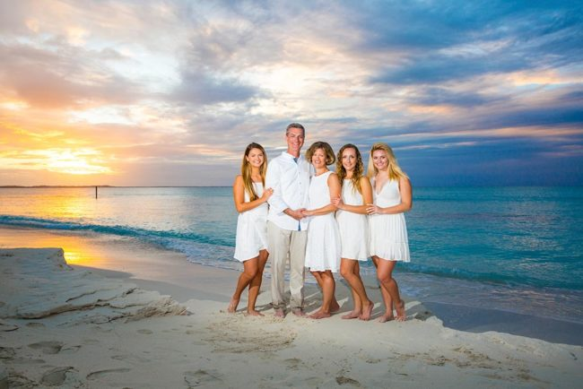 Turks-and-Caicos-family-photography-secluded-beach-sunset