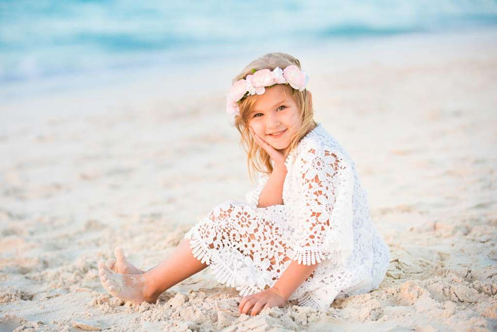 Girl on the beach - best children photography