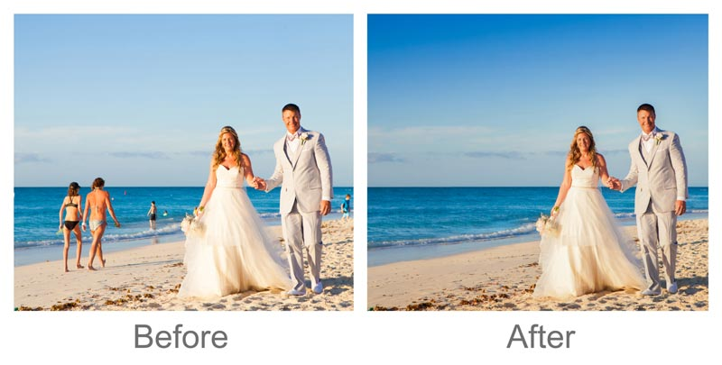 Photo Retouching- Beforee-and -after Turks and Caicos Photographer